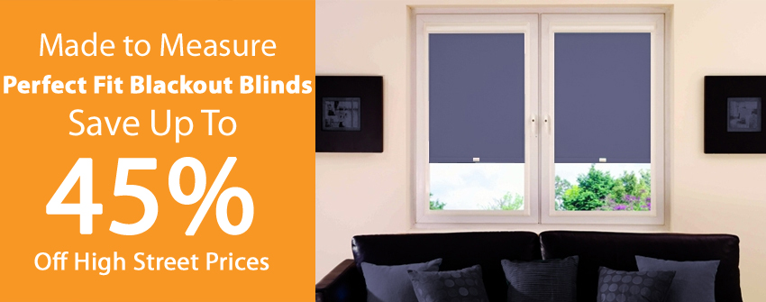 Perfect Fit Blackout Roller Blinds