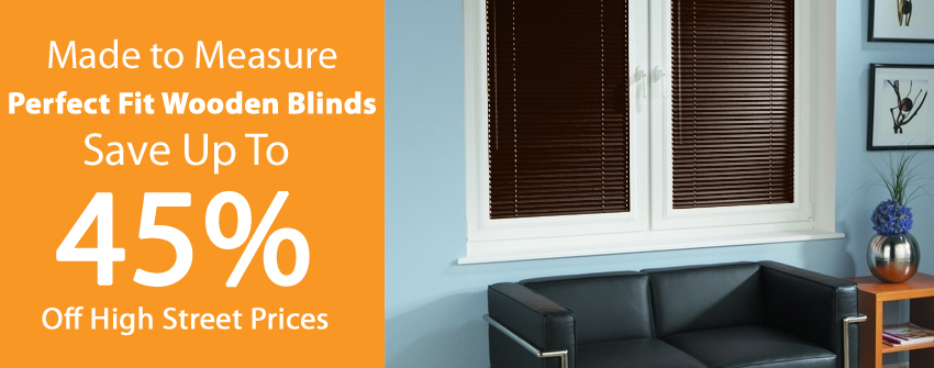 Perfect Fit Wooden Blinds