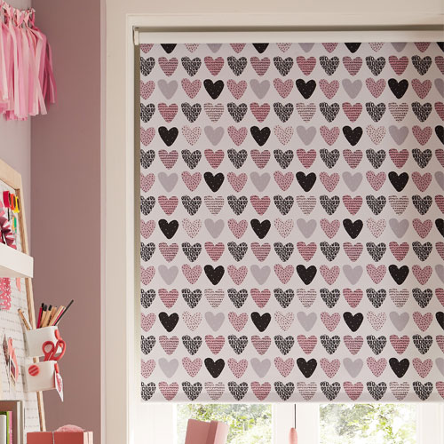 Love Hearts Childrens Roller Blinds