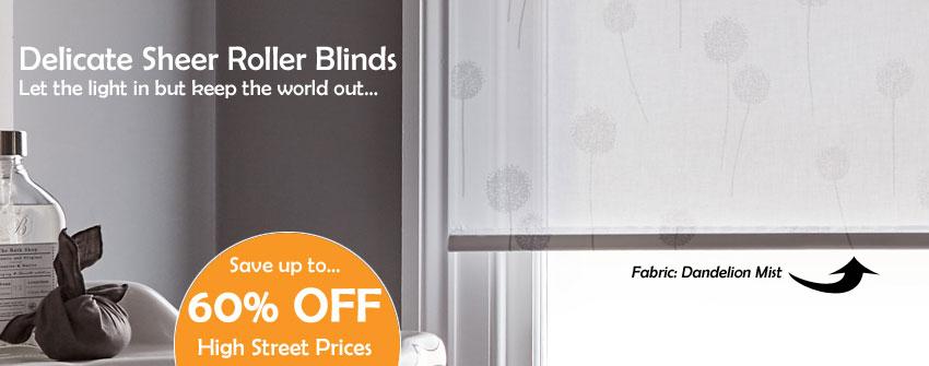 Sheer Roller Blinds
