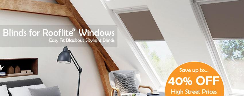 Blinds for Rooflite Windows