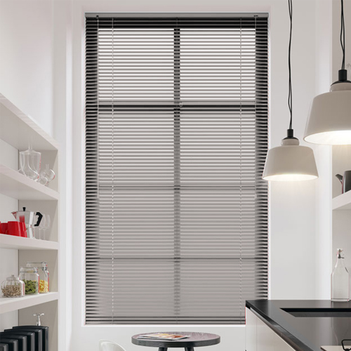 Frosted Silver Venetian Blinds